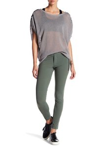 Blanc Noir Stretch Zippers Skinny Pants Green