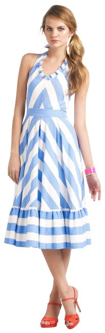 Preload https://img-static.tradesy.com/item/24176102/kate-spade-blue-and-white-summer-mid-length-workoffice-dress-size-0-xs-0-1-650-650.jpg
