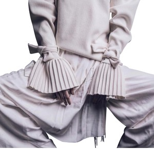 Neriage Wide Leg Pants Offwhite