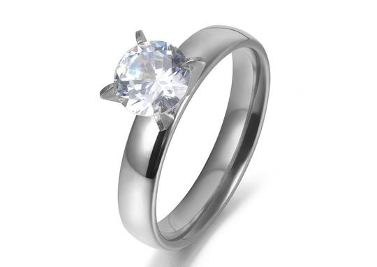 Other 1.50 CTW Brilliant Cut Solitaire Rhodium Plated Cubic Zirconia Ring Image 1