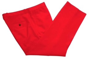 J.Crew Tollegno 1900 Wool Italy Trouser Pants Red