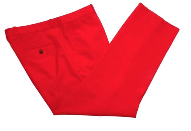 Item - Red Wool Tollegno 1900 Italy Pants Size 10 (M, 31)