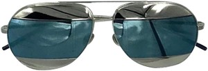 Dior Dior Split 1 Blue & Silver Mirrored Aviator Sunglasses