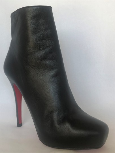 Christian Louboutin Thigh High Platform Heel Black Ankle Boots Image 1