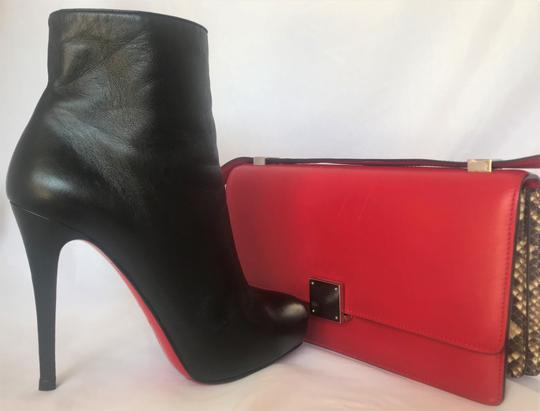 Christian Louboutin Thigh High Platform Heel Black Ankle Boots Image 2