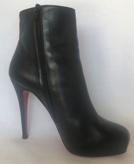 Christian Louboutin Thigh High Platform Heel Black Ankle Boots Image 4