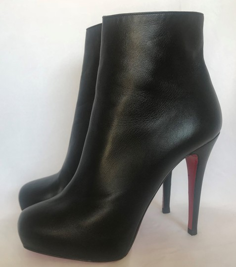 Christian Louboutin Thigh High Platform Heel Black Ankle Boots Image 5