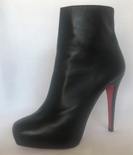 Christian Louboutin Thigh High Platform Heel Black Ankle Boots Image 7