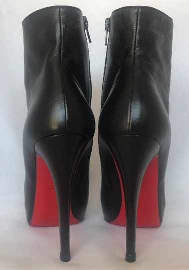 Christian Louboutin Thigh High Platform Heel Black Ankle Boots Image 8