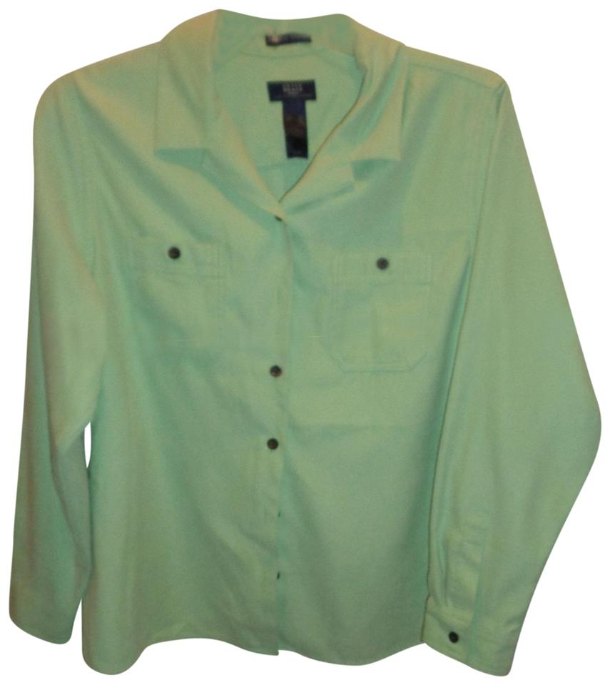 3d6f0c092cea7 Green Crazy Horse by Liz Claiborne Tops - Up to 70% off a Tradesy
