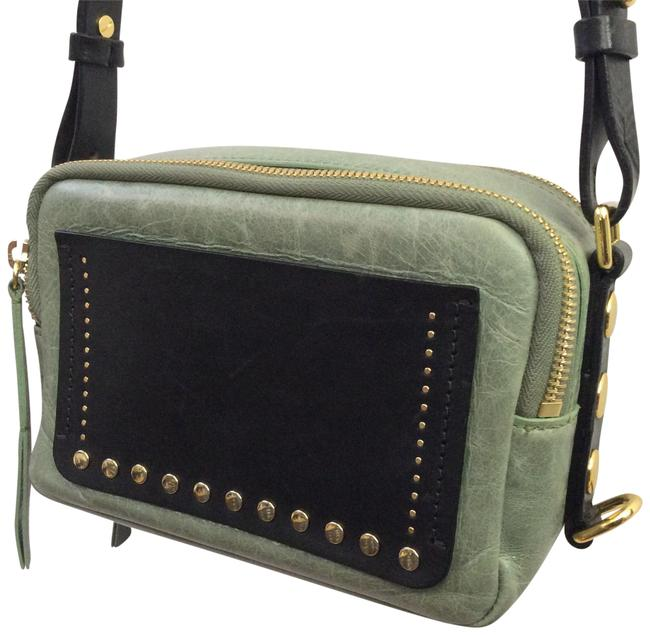 Item - Tinley Studded Mini Black. Green Leather Cross Body Bag