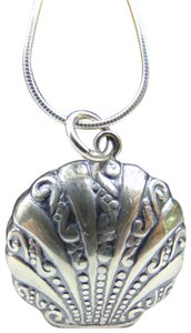 9.2.5 Sterling Silver Seashell Locket Necklace
