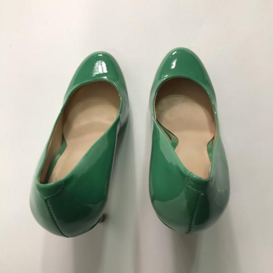 Nine West Patent Leather Green Pumps Image 1