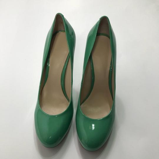 Nine West Patent Leather Green Pumps Image 2