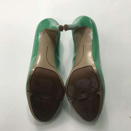 Nine West Patent Leather Green Pumps Image 3