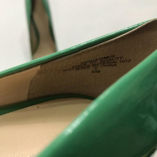 Nine West Patent Leather Green Pumps Image 4