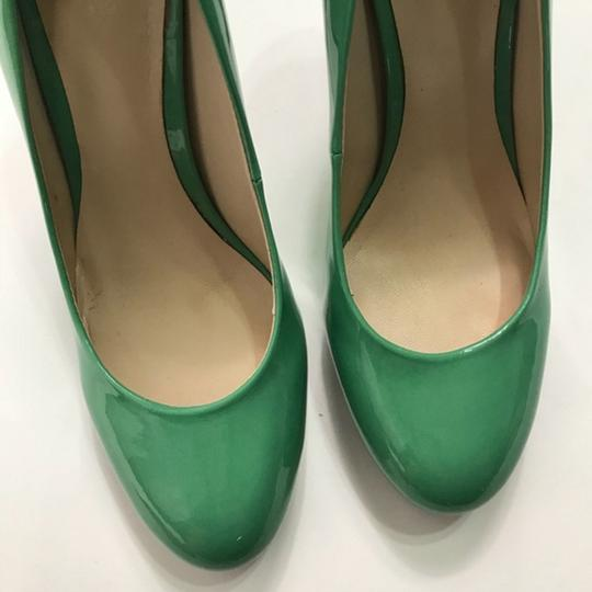 Nine West Patent Leather Green Pumps Image 7