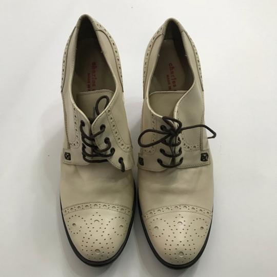 Charles David Mary Jane Lace-up Beige Pumps Image 1