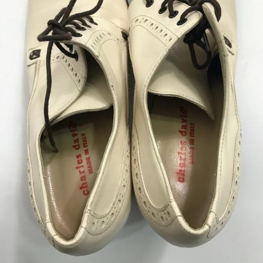 Charles David Mary Jane Lace-up Beige Pumps Image 6