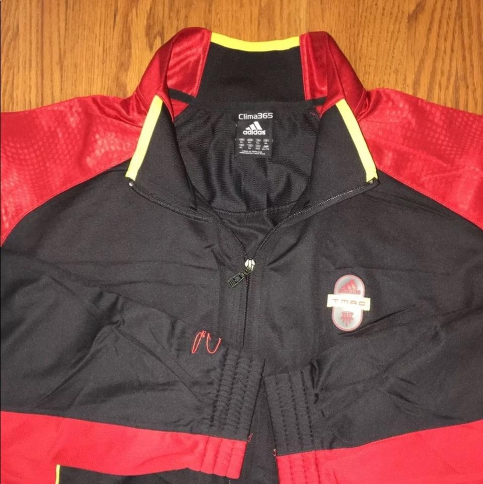 more photos 8d2c4 8969a adidas Black/Red Men's Climacool Track Jacket Tmac Shirt 70% off retail