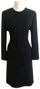 Carolina Herrera short dress Black Vintage Wool Silk Sheath on Tradesy