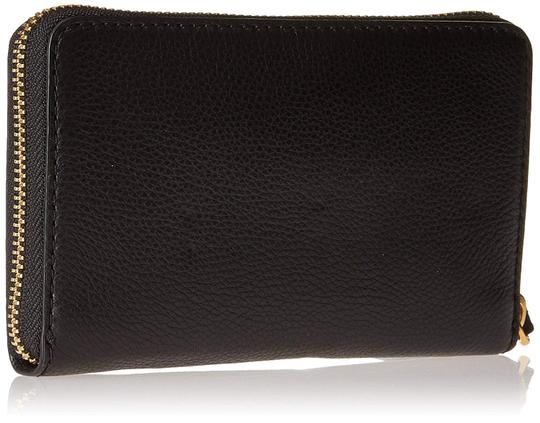 Marc by Marc Jacobs New Q Wingman Leather Wallet Purse Leather Purse Wristlet in Black Image 1