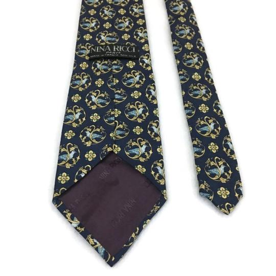 Preload https://img-static.tradesy.com/item/24176620/nina-ricci-blackgold-men-s-silk-luxury-necktie-floral-france-paris-tiebowtie-0-0-540-540.jpg