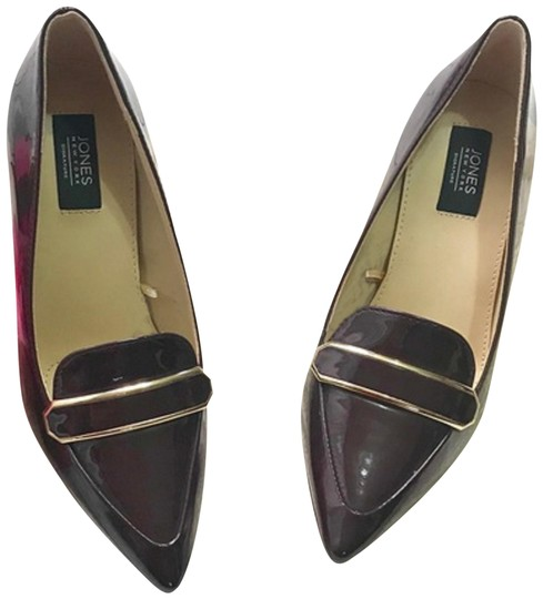 Jones New York Patent Leather Brown Burgandy Pumps Image 0