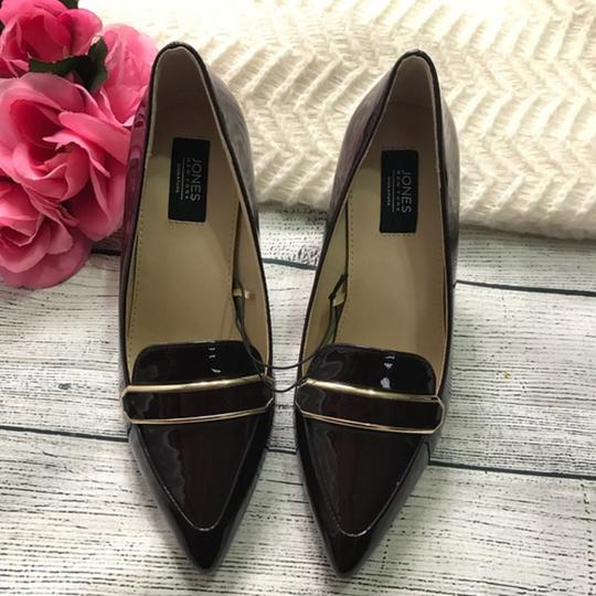 Jones New York Patent Leather Brown Burgandy Pumps Image 2
