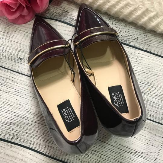 Jones New York Patent Leather Brown Burgandy Pumps Image 3