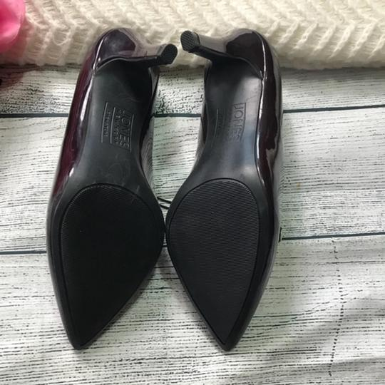 Jones New York Patent Leather Brown Burgandy Pumps Image 6