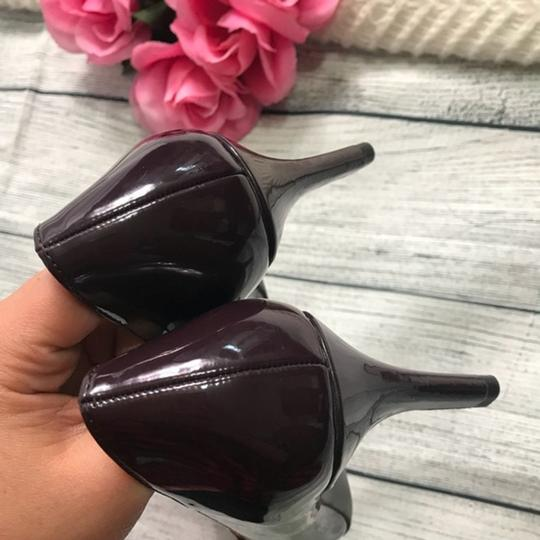 Jones New York Patent Leather Brown Burgandy Pumps Image 7
