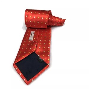 Versace Red Luxury Necktie Silk Italy Tie/Bowtie