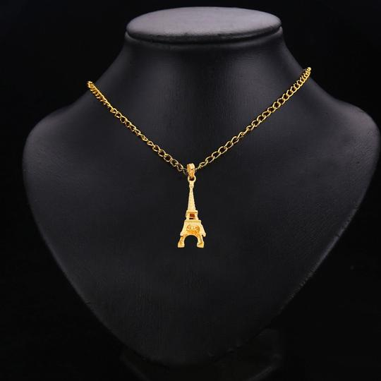 Top Gold & Diamond Jewelry 14k yellow gold Paris Eiffel Tower Pendant Image 2