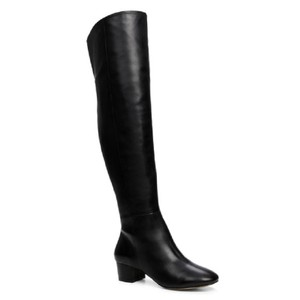 ALDO Leather Tall Knee High Black Boots