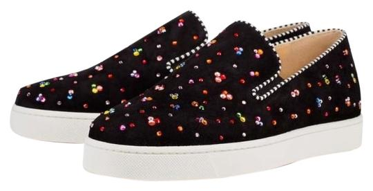 Preload https://img-static.tradesy.com/item/24176791/christian-louboutin-black-boat-clair-de-lune-suede-multicolor-crystal-slip-on-sneakers-flats-size-eu-0-1-540-540.jpg