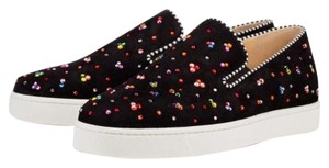 Christian Louboutin Flat Sneaker Trainer Logo Boat black Athletic