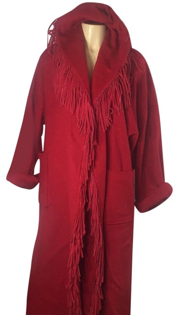 Preload https://img-static.tradesy.com/item/24176931/red-fringed-hooded-coat-size-16-xl-plus-0x-0-1-650-650.jpg