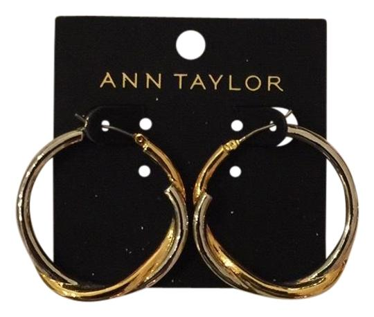 Preload https://img-static.tradesy.com/item/24176957/ann-taylor-gold-and-silver-circle-twist-earrings-0-1-540-540.jpg