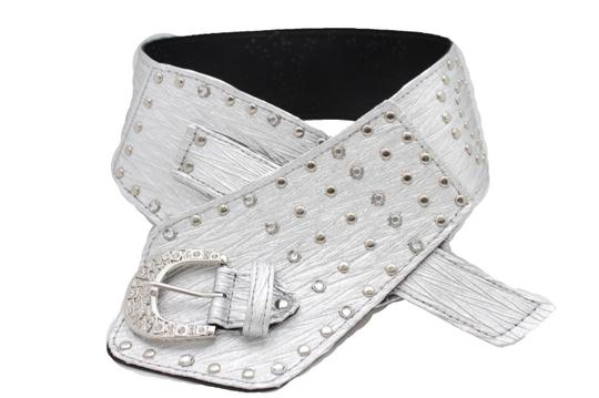 Alwaystyle4you Women Silver Western Unique Belt Hip Waist Wide Band Metal Studs Bling Image 11