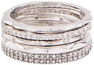 Ann Taylor Ann Taylor crystal stacked ring set size 8