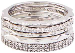 Ann Taylor Ann Taylor crystal stacked ring set size 7