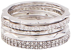 Ann Taylor Ann Taylor crystal stacked ring set size 6
