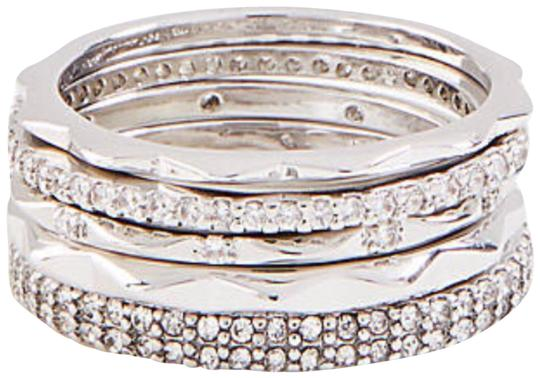 Ann Taylor Ann Taylor crystal stacked ring set size 6 Image 0