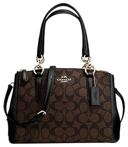 Coach Madison 36718 Christie Carryall Satchel in Black Brown