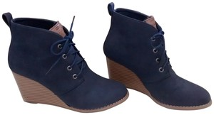 Nautica Wedge Shoestring navy Boots