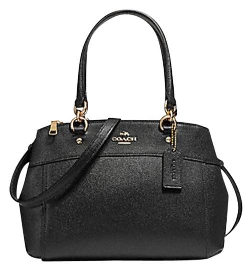 Preload https://img-static.tradesy.com/item/24177127/coach-christie-mini-brooke-carryall-f25928-57523-black-leather-satchel-0-1-540-540.jpg