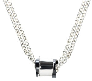 Montblanc Profile collection Black Ceramic Silver Wish Necklace