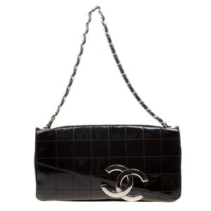 Chanel Timeless Quilted Leather Black Clutch