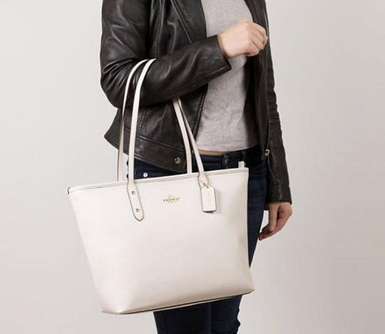Coach Shoulder 36875 Satchel 36876 Tote in white Image 3